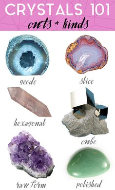 Crystals 101 Cuts and Kinds