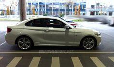 White BMW M235 Coupe