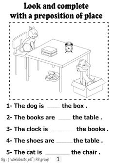 worksheets and teaching resources : Download (Preposition of place worksheets ) free p... English Grammar For Kids, Learning English For Kids, English Lessons For Kids, Kids English, Teaching English, English Prepositions, English Worksheets For Kids, Prepositions Worksheets, Preposition Activities