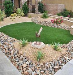 Como decorar o jardim com pedras