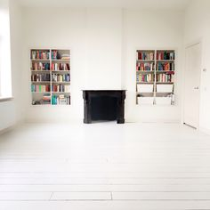 White floor, ready to decorate #canvas