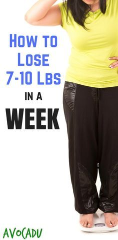 Lose 7 to 10 pounds in a week with these diet and weight loss tips to help you lose weight fast! http://avocadu.com/lose-7-10-pounds-week/