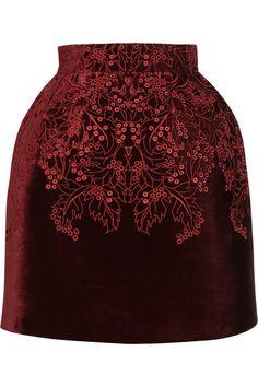 McQ Alexander McQueen broderie anglaise velvet bell skirt #DesignerSpotlight #McQAlexanderMcQueen