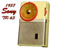 "Transistor Radio    Sony    ""TR-63""    (1957)"