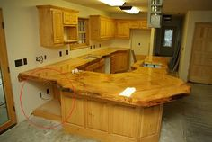 Rough Wood Kitchen Countertop   Bing Images