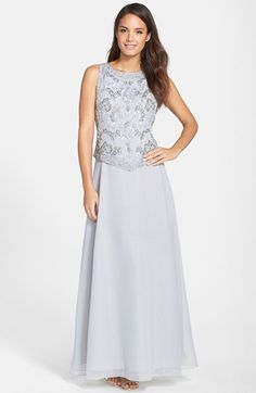 J Kara Embellished Bodice Mock Two-Piece Gown available at #Nordstrom