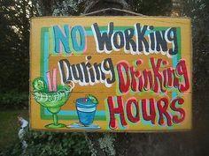 TROPICAL DRINKING TKI BEACH HOUSE BAR SIGN PLAQUE