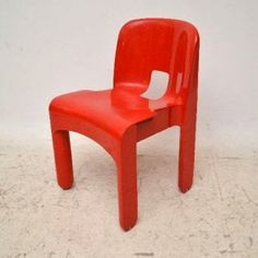 Moulded Retro Italian Chair by Joe Colombo for Kartell Vintage 1970's