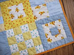 baby boy quilt -- I don't know about the genderizing of this quilt - but I like it nonetheless