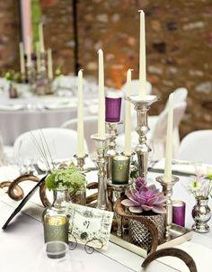 Elegante Vintage-Hochzeitsdekoration in Lila und Grün – Elegant purple and green vintage wedding decoration – www.weddingstyle.de