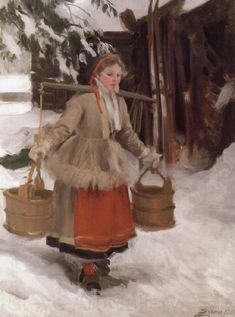 Fetching Water ~ Anders Zorn ~ (Swedish 1860–1920)