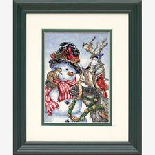 NEW   Dimensions D08824 Snowman & Reindeer Christmas Counted Cross Stitch Kit