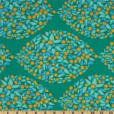 LAMINATED Cotton Fabric By The Yard   Minds Eye Tambourine Field Study  Yardage (aka Oil