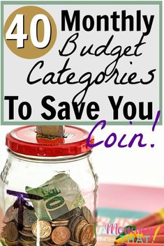 40 Household Expenses For Your Brand New Budget 40 monthly budget categories for your new family budget. Household Expenses, Household Budget, Budget Help, Making A Budget, Living On A Budget, Family Budget, Frugal Living, Budgeting Finances, Budgeting Tips