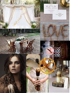 Hunger Games Wedding Inspiration  {http://rivernorthlove.blogspot.com/2012/03/hunger-games-wedding-inspiration.html}