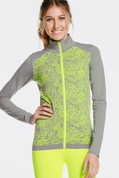 Go from errands to the gym in our best-selling zip-up jacket with an all-new neon floral print.| Nanette Jacket - Fabletics