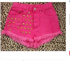 high waisted pink stud shorts :) Just got me a pair of these too! I love the states!!!