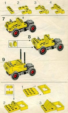 LEGO 6692 Tractor Trailer instructions displayed page by page to help you build this amazing LEGO City set Lego Tractor, Cuadros Star Wars, Lego Head, Lego City Sets, Lego Club, Lego Pictures, Lego Craft, Custom Lego, Custom Trucks