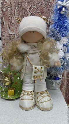 Купить Интерьерная кукла ручной работы - белый, авторская ручная работа, кукла ручной работы