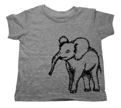 Your kids are sweet. This elephant is sweet. Come on, they're a match made in Heaven. Our trendy kids clothing are 100% American made. Dress your kids in style and show your support for these adorable endangered animals!