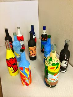 Art History bottles Art @ Massac  Might be a cool idea as a fundraiser @ art show???