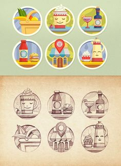 Flat Icons / Flat Design / Icons / Pictograms / Symbols / #Icons by Mike | Creative Mints, via dribbble.