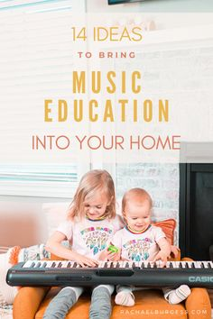 Are you looking for ways to entertain your kids during the (coronavirus) world pandemic? Here are 14 ideas for teaching music at home for music in our schools month. Music Games For Kids, Music Education Games, Music Activities, Teaching Music, Teaching Kids, Kids Learning, Music Teachers, Music Class, Harmony Music