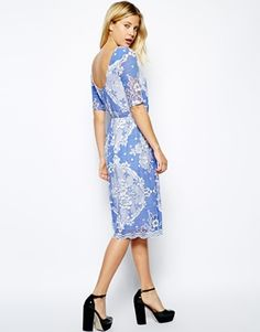 Stunning Blue And White Dress Asos Contemporary - Mikejaninesmith ...
