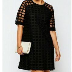 Sexy plus size net dress Sexy black net plus size dress Dresses Mini