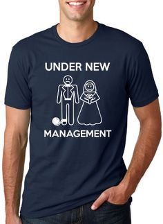 If you are under new management and getting married or having a Bachelorette party This is the perfect tee for you! Our top selling bachelor party shirt as well! Have you tried a Crazy Dog T-shirt yet? Just Wait until you slip on one of these super soft tees. You'll instantly fall in love! Not only are they printed on super soft cotton but the tees fit great too. Try one and you won't go anywhere else! With over 900 designs Crazy Dog is the online destination for your favorite tees. Many of…