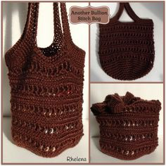 FREE crochet pattern for a Another Bullion Stitch Bag. This bag has a quite a bit of stretch to it, so you'll definitely want to line it.