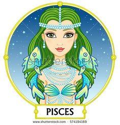 Piscis Ilustraciones Stock, Vectores, Y Clipart – Ilustraciones Stock) Pisces Fish, Pisces And Capricorn, Zodiac Signs Pisces, Zodiac Art, Zodiac Sign Facts, Astrology Zodiac, Pisces Traits, Astrology Signs, Signes Zodiac