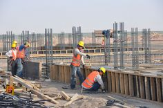 Afghan National Civil Order Police compound under construction by USACE HQ Construction Safety, Steel Bar, Historical Photos, Civilization, Concrete, Building, Police, Mood, Arquitetura