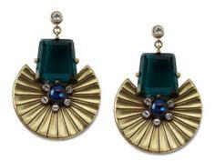 Fan Earrings by Gerard Yosca #distinctivedeals