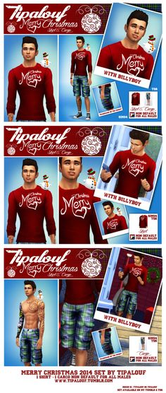 MERRY CHRISTMAS 2014 SET (click on pics for HD view) + 500 followers  , Good holiday season, see U in 2015 :) Available on TSR : • SET : http://www.thesimsresource.com/downloads/1276555 • SHIRT :...