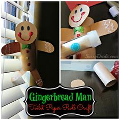 Sassy Dealz: Gingerbread Man Toilet Paper Roll Craft For Kids (Cute Christmas Art Project!)