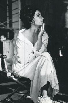 Elizabeth Taylor on the set of Cleopatra
