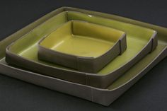 Square trays by Doris Bank. I LOVE these.