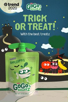 Make this Halloween spooktacular and healthier with GoGo squeeZ. Make sure you have a tasty,nutritious treat to offer your little ghosts and goblins! Our products are crafted with high-quality ingredients to provide wholesome goodness for squeeZing, and enjoying wherever life takes you. And kids love them! Find them in the applesauce aisle! Get Healthy, Healthy Tips, Healthy Snacks, Snacks Recipes, Vegetarian Entrees, Healthy Habits, Good Health Tips, Health Advice, Health And Nutrition