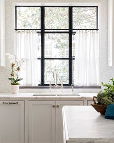 Windows Discover Linen Cafe Curtains Sheer Linen Curtains Custom Made - Rod Pocket or Pinch Pleat Cafe Curtains Kitchen, Kitchen Decor, Kitchen Design, Farmhouse Curtains, Farmhouse Decor, Kitchen Ideas, Kitchen Inspiration, Country Curtains, Kitchen Centerpiece