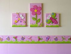 Baby Wall Art, Baby Art, Baby Decor, Kids Decor, Handmade Crafts, Diy And Crafts, Dragonfly Wall Art, Arte Country, Foam Crafts