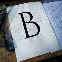 "The ""B""! #typo #typography #art #typoart #b #schoolwork #school #typomania #typographydesign #typodesign"