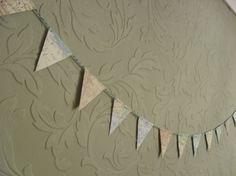 Map Bunting Mini Paper Garland 14 Flags by BigGirlSmallWorld