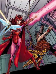 West Coast Avengers (Wasp, Scarlet Witch, Hawkeye, Tigra & Wonder Man)
