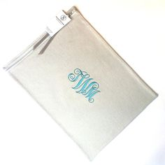 "Silver Storage Bag 12"" x 16"" - Anti Tarnish - Monogrammed - for Sterling Silver Platter, Silver Tray - Simple Elegance Collection Gray 4"