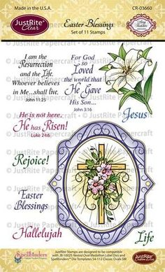 Easter Blessings Clear Stamps