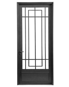 Mirá imágenes de diseños de Casas de estilo moderno en negro: Puerta de entrada de una hoja. Encontrá las mejores fotos para inspirarte y creá tu hogar perfecto.
