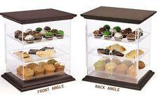 Food Display Clear Acrylic Wood Countertop Bakery Vending13033
