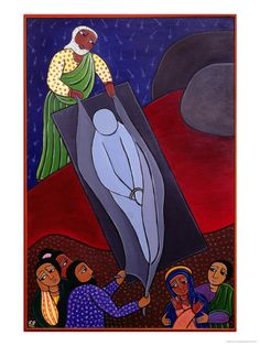 Laura James - Jesus is Laid in the Tomb, No. 14 in 14 Stations of the Cross Series, 2002