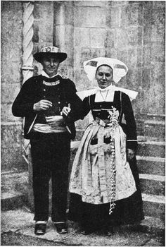 Old-Time Costumes at a Modern Breton Wedding